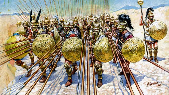 Image result for macedonian phalanx