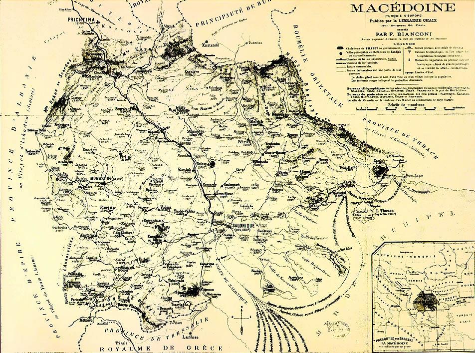 Map of Historical Ethnic Macedonia